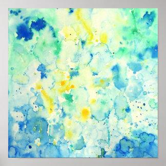 Watercolor Abstract Green Print