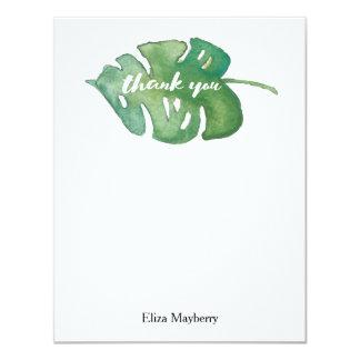 Watercolor Jungle Leaf Thank You Note 11 Cm X 14 Cm Invitation Card