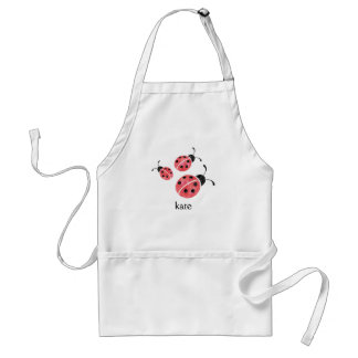 Watercolor Ladybug Personalized Adult Apron