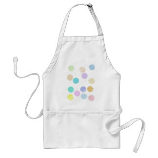 Watercolor Polka Dots Standard Apron