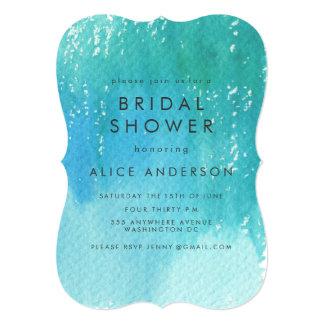 Watercolor Wash Blue Bridal Shower Invite