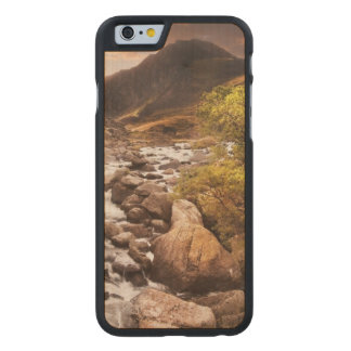Waterfall In Mountains With Moody Dramatic Carved® Maple iPhone 6 Case
