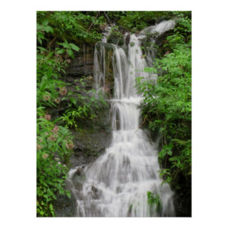 Waterfall in smokey Mountains Poster