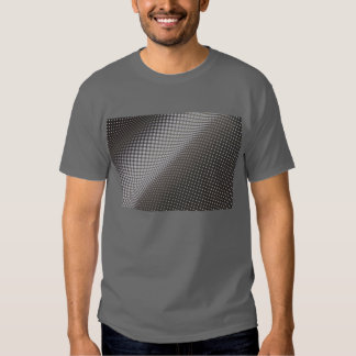 wavy black and white polka dots dark t-shirt
