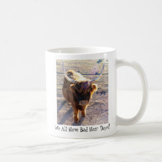 We All Have Bad Hair Days! Basic White Mug