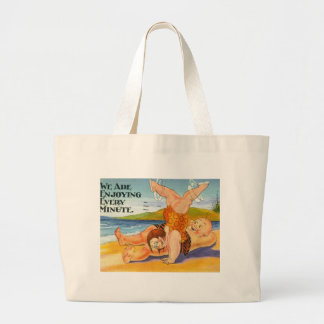 We Are Enjoying Every Minute Vacation Vintage Jumbo Tote Bag