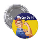 We Can Do It! Rosie the Riveter 3 Cm Round Badge