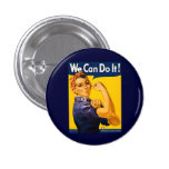 We Can Do It! Rosie the Riveter Vintage WW2 3 Cm Round Badge