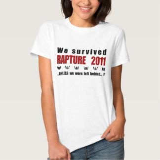 We survived Rapture 2011 Tee Shirts