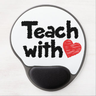 We teach with heart! mousepad gel mouse pad