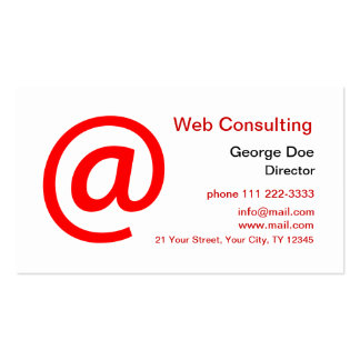 Web Consulting Pack Of Standard Business Cards
