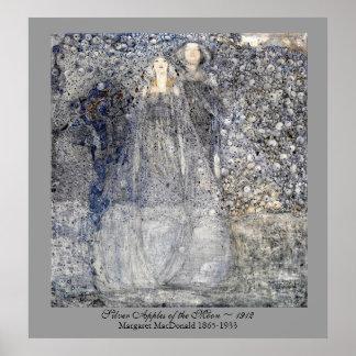 Wedding Art Nouveau Silver Apples  MacDonald 1912 Poster