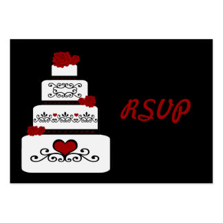 Wedding Cake RSVP Insert Pack Of Chubby Business Cards