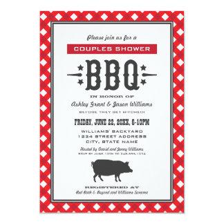Wedding Couple's Shower   Backyard BBQ Theme 13 Cm X 18 Cm Invitation Card