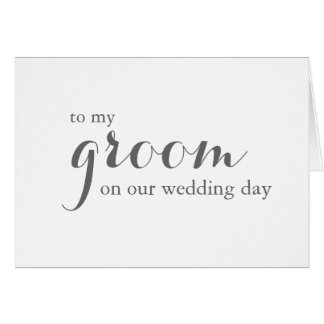 Wedding Day Card to Groom