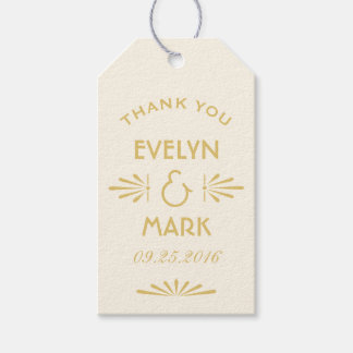 Wedding Favor Tags | Art Deco Style