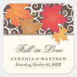 Wedding Favour Sticker   Autumn Fall Theme