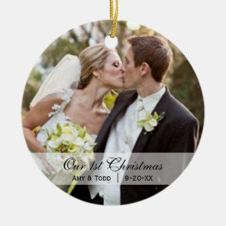 Wedding  |  First Christmas Photo Ornament