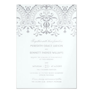 Wedding Invitations | Silver Vintage Glamour