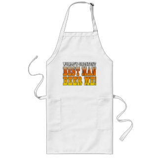 Wedding Parties Favors : Worlds Greatest Best Man Long Apron