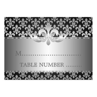 Wedding Placecards Fleur De Lis Black Pack Of Chubby Business Cards