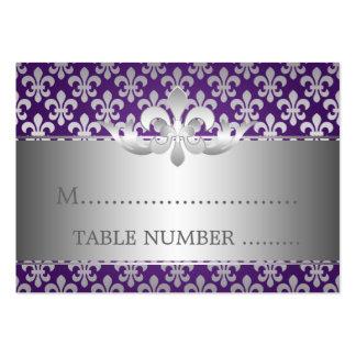 Wedding Placecards Fleur De Lis Purple Pack Of Chubby Business Cards