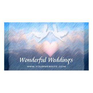 Wedding Planner Heart Doves Business Card
