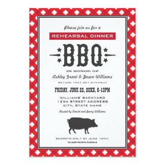 Wedding Rehearsal Dinner   Backyard BBQ Theme 13 Cm X 18 Cm Invitation Card