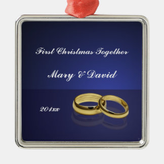 Wedding Rings First Christmas Together Ornament