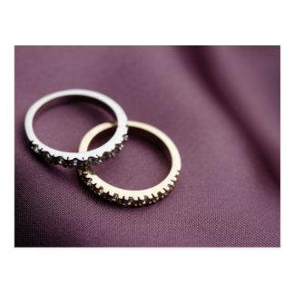 Wedding Rings Silver Postcard