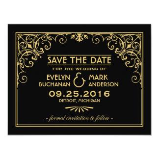 Wedding Save the Date Cards   Art Deco Style 11 Cm X 14 Cm Invitation Card