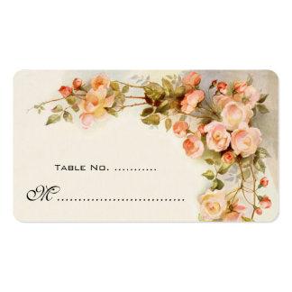 Wedding Table Number, Vintage Roses Pack Of Standard Business Cards