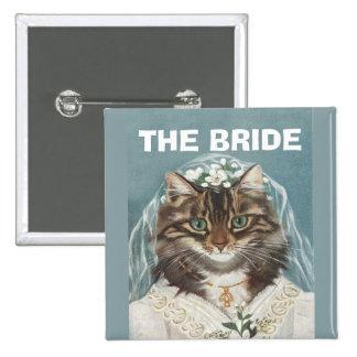 Wedding,the bride,bachelorette party,hen party 15 cm square badge