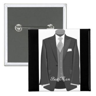 Wedding Tuxedo Best Man Pin Button Badge Gift