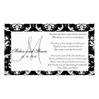 Wedding Wishing Well and Hotel Information Card Pack Of Standard Business Cards