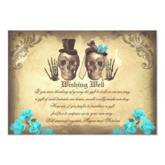 wedding wishing well skull vintage cards 9 cm x 13 cm invitation card