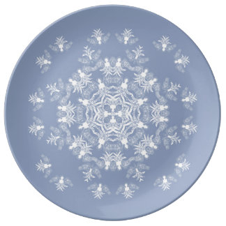 Wedgwewood Blue Angel Snowflake Decorative Plate Porcelain Plates