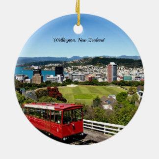 Wellington, New Zealand Round Ceramic Decoration