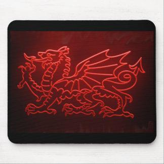Welsh Dragon Neon Mosepad, Mousemat