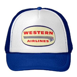 Western Airlines vintage logo Cap