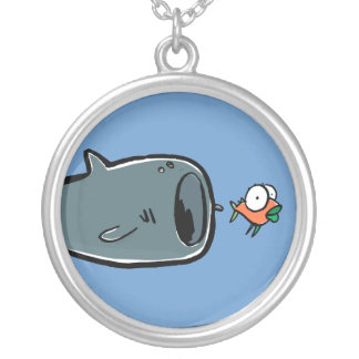 whale shark round pendant necklace
