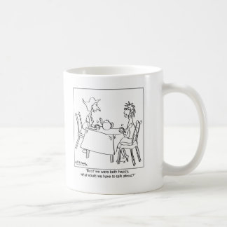 What Could You Talk About If You're Happy? Basic White Mug