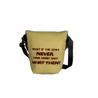 What if the Cows NEVER Come Home? Courier Bag