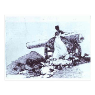What value? by Francisco Goya Postcard