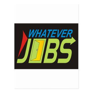WhatEver Jobs Postcard