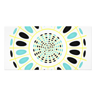 Wheel on white customized photo card