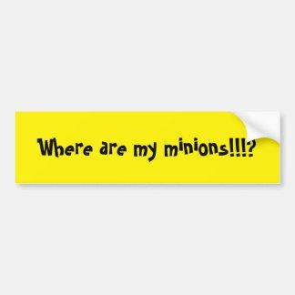 Where Are My Minions? Bumper Sticker