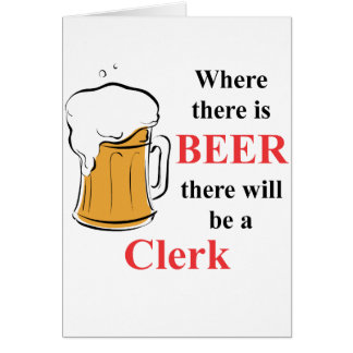 Where there is Beer - Clerk Note Card