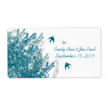 Whimsical Musical Vintage Birds Save the Date Shipping Label