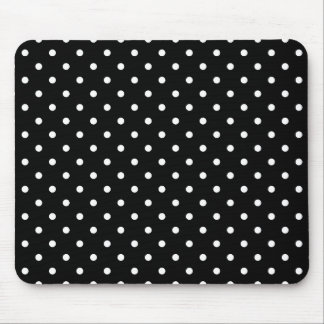 White and Black Polka Dot Pattern Mouse Pad